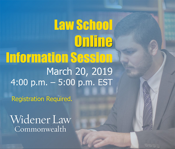 promotional flyer advertising March 20 online information session