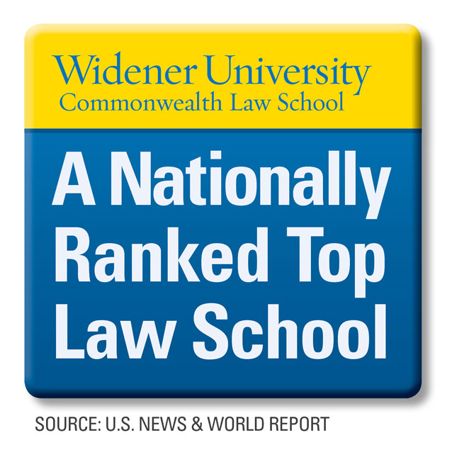 Widener University Commonwealth Law School: A Nationally Ranked Top Law School. Source: U.S. News & World Report
