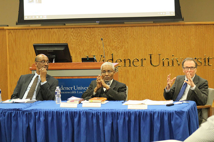 Speakers from the first panel at the 2020 Dean's Diversity Forum