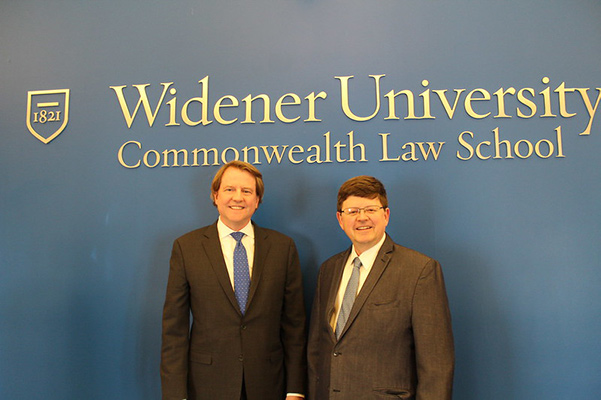 photo of Don McGahn and Dean Christian Johnson