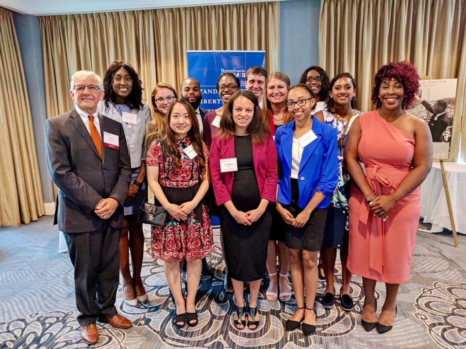 Group photo of internship participants.