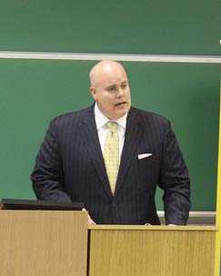 James Schultz presents at Widener Law Commonwealth in 2013.