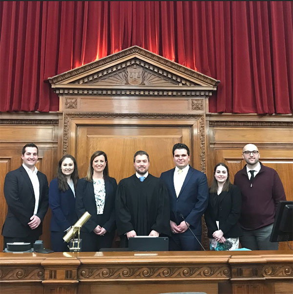 photo of the mock trial team