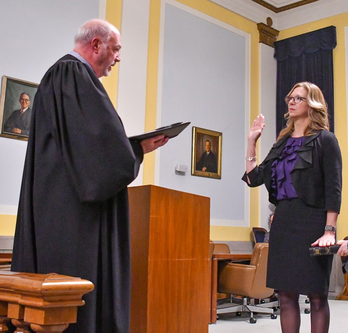 Photo of Heather Adams at her swearing in