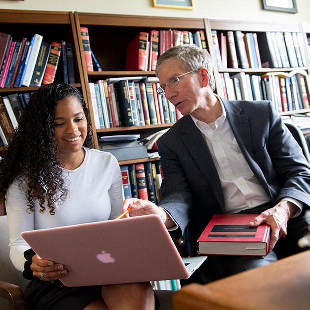 student with Professor John Dernbach