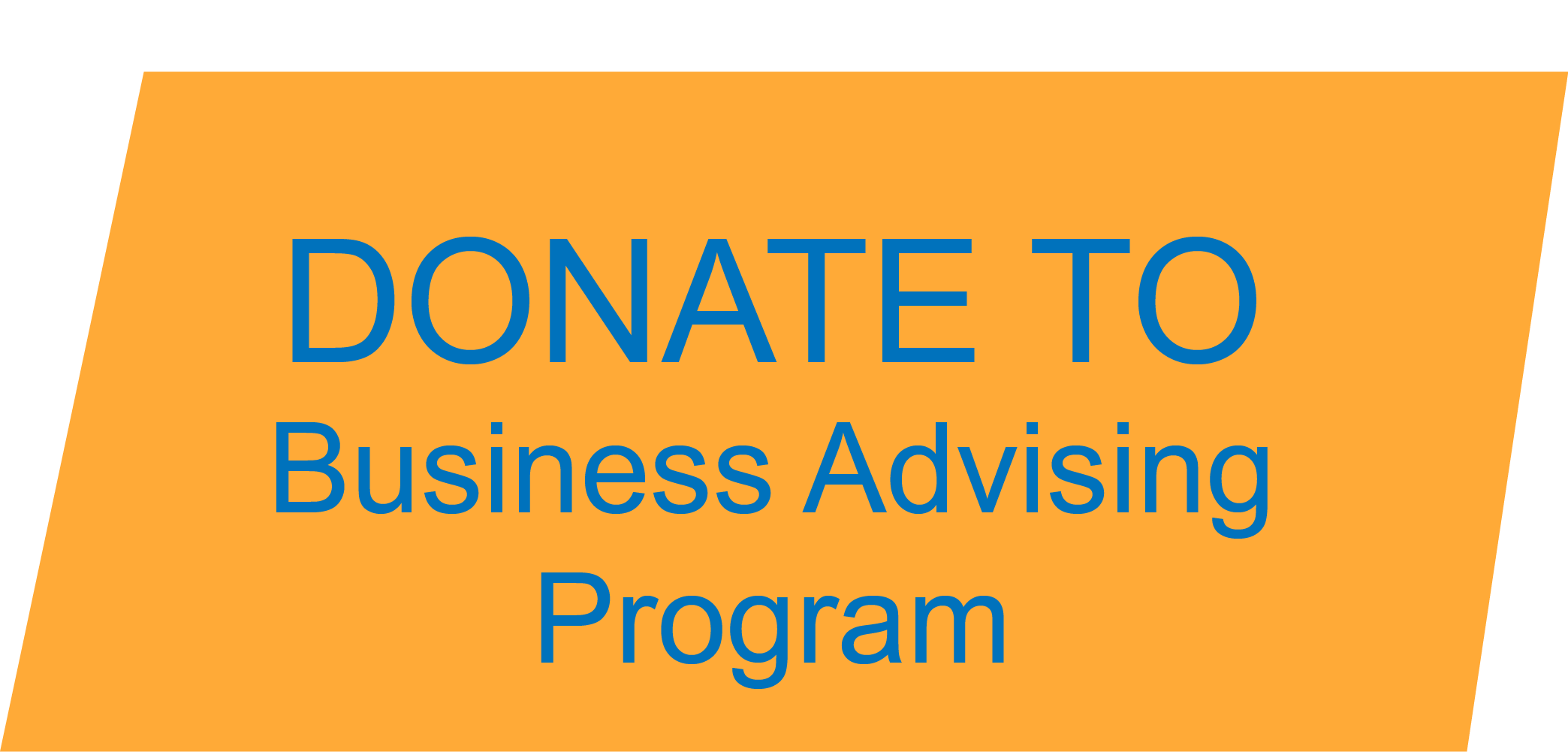 icon that reads Donate to Business Advising Program