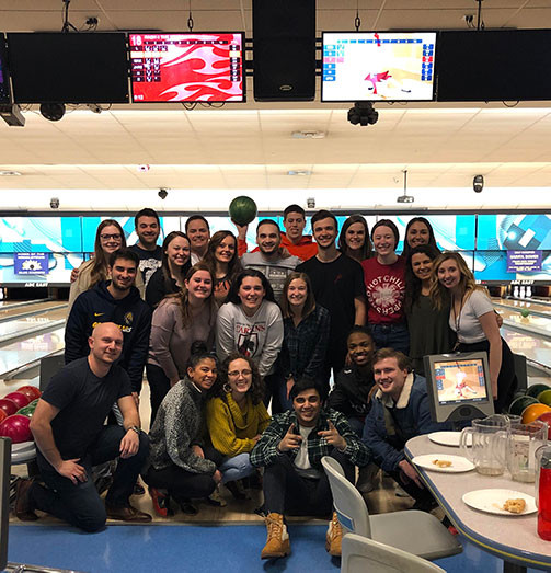 photo of the bowling outing