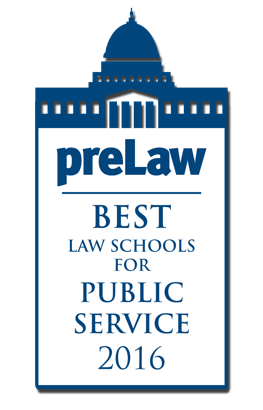 PreLaw Best Law Schools for Public Services 2016 Logo
