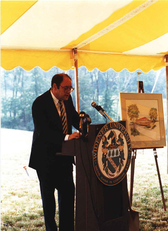photo of Tony Santoro at the groundbreaking ceremony for what was to be Widener Law Commonwealth